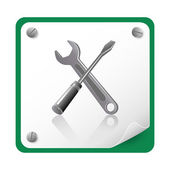 Tools icon — Stok Vektör