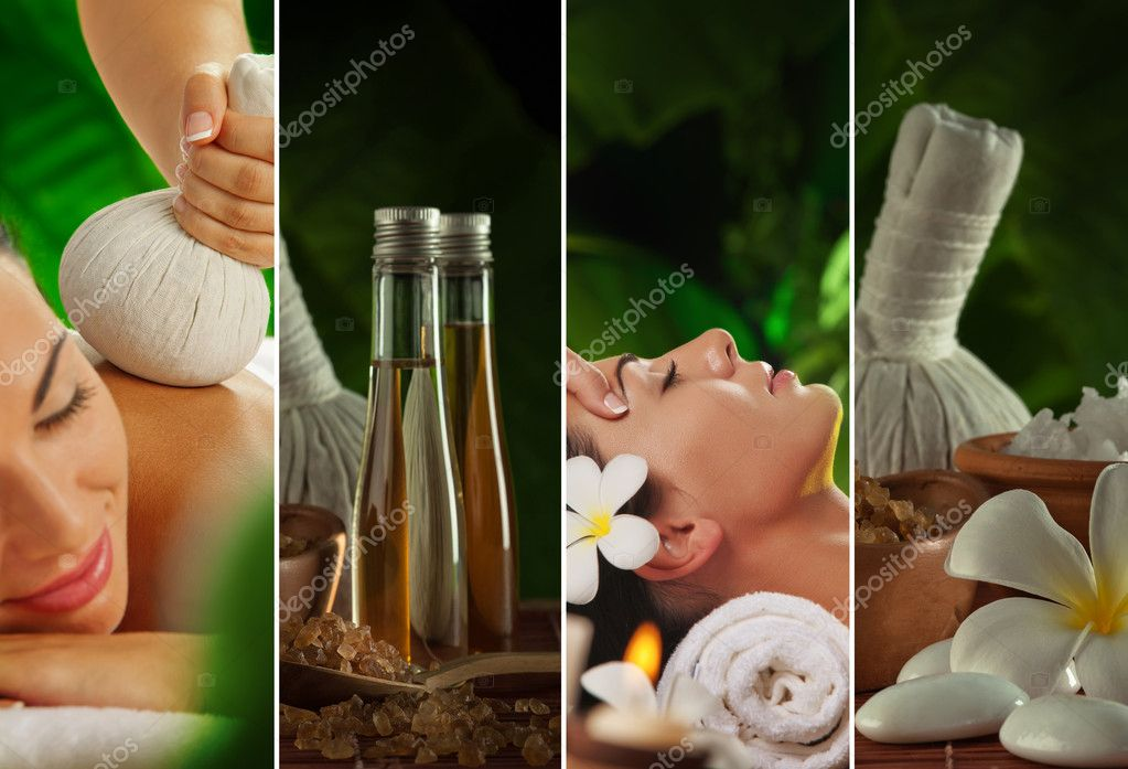 Spa theme collage composed of a few images — Stock Photo #12045658