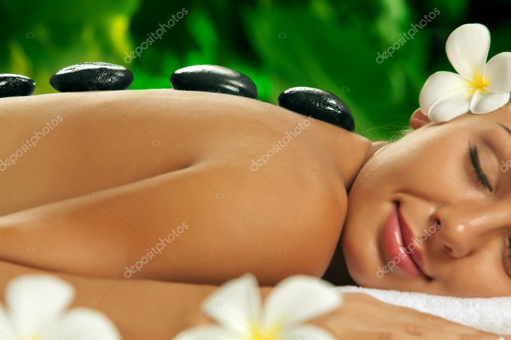 Portrait of young beautiful woman in spa environment  Stock Photo #12045739