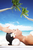 Beach massage — Stock Photo