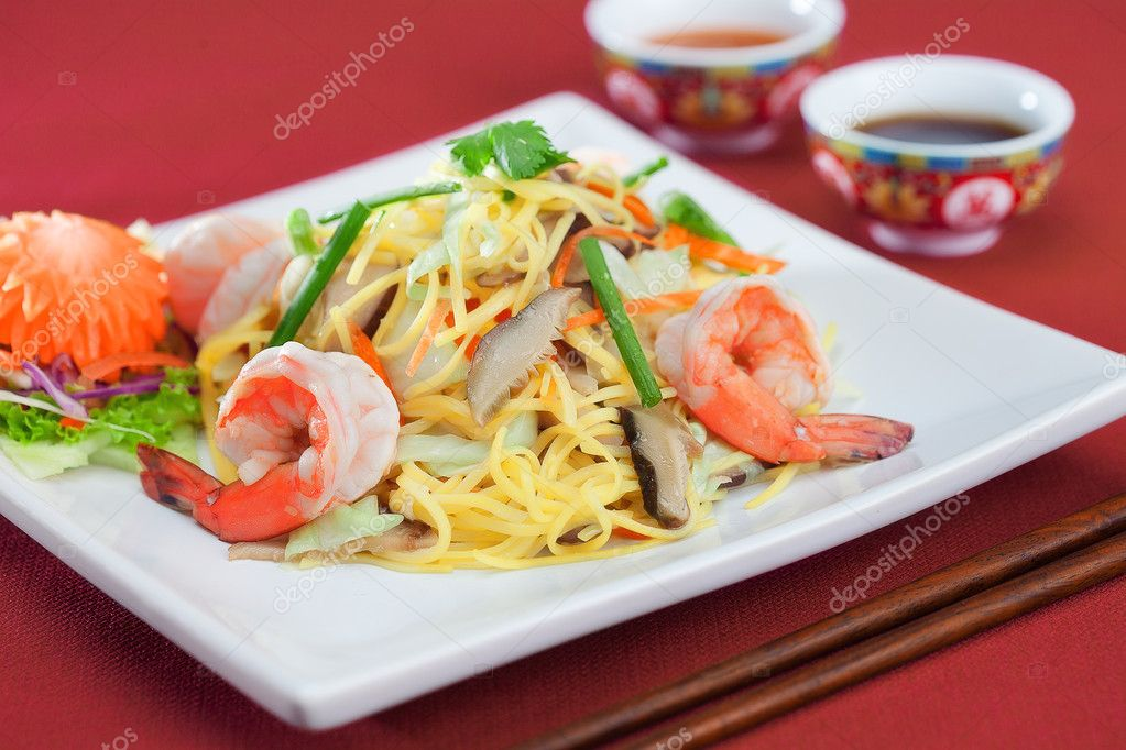 Close up view of nice fresh meal on color  back	 — Stock Photo #12085171