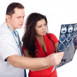 Stock Photo: Doctors interpreting computed tomography (CT)