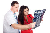 Doctors interpreting computed tomography (CT) — Stock Photo