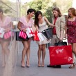 Group of friends with shopping bags — Stock Photo #11289247