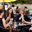 Group of friends enjoying cocktails — Stock Photo #11289370