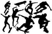 коллекция скейтборд вектора — Cтоковый вектор