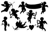 Cupids koleksiyonu — Stok Vektör