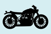 Classic Motorcycle — Vector de stock