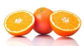 多汁的橙子小食 — 图库照片