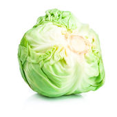 Head Cabbage isolated on white background — Stock Photo