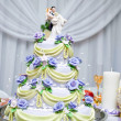 Layered wedding cake — Stock Photo #11567503
