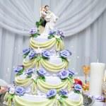 Layered wedding cake — Stock Photo
