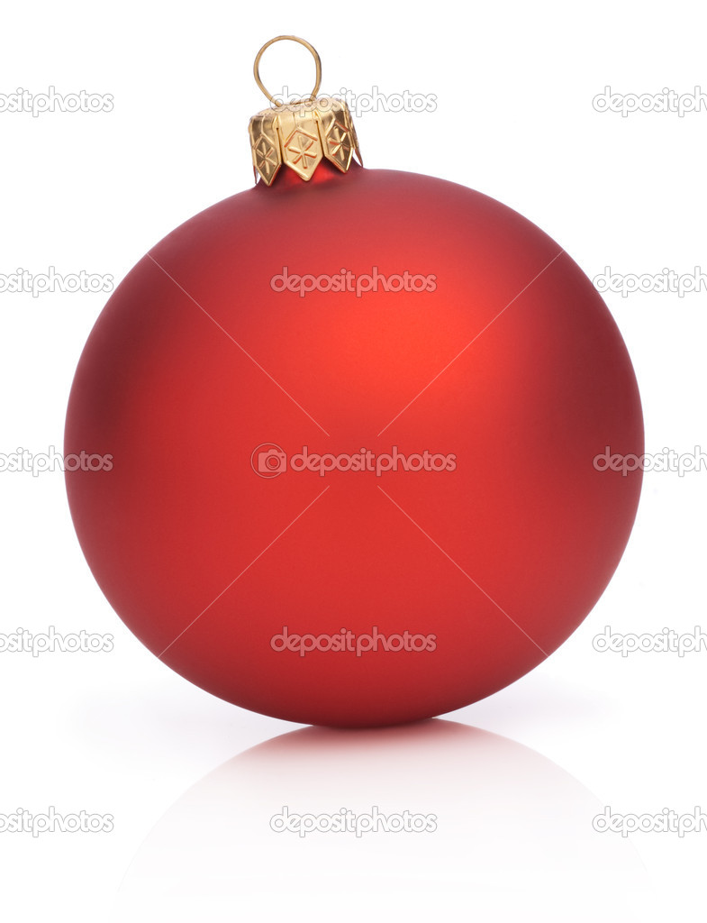 Christmas Red Ball Isolated  on white background — Foto Stock #11567508