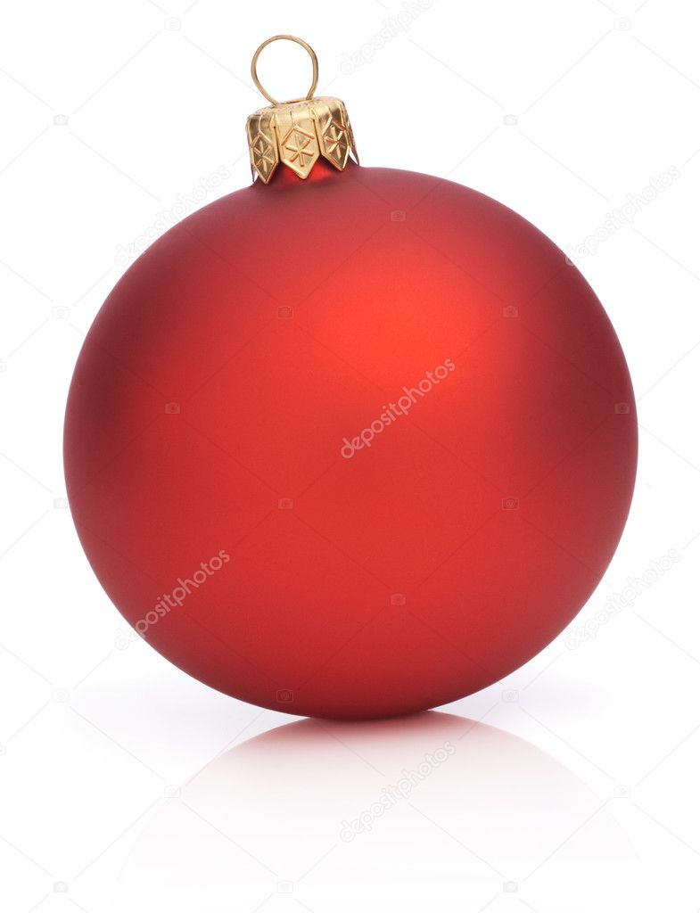 Christmas Red Ball Isolated  on white background — Zdjęcie stockowe #11567508