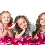 Three elegant girls — Stock Photo
