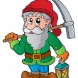 Stock Vector: Cartoon dwarf miner