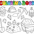 Royalty-Free Stock Vector Image: Coloring book mining collection 1