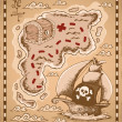Treasure map theme image 1 - Stock Vector