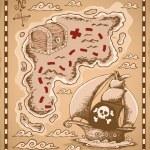 Treasure map theme image 1 — Stock Vector