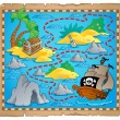 Treasure map theme image 3 — Stock Vector