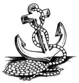 Anchor theme drawing — Stock Vector