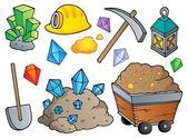 Collection de thème minier 1 — Vecteur