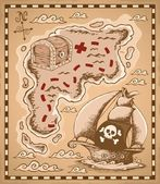 Treasure map theme image 1 — Stock Vector
