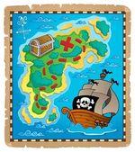 Treasure map theme image 2 — Stock Vector