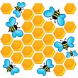 Bee theme image 1 - Stock vektor