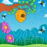 Bee theme maze — Stock Vector #11550026