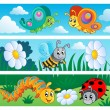 Bugs banners collection 1 — Stock Vector #11550126