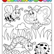 Stock Vector: coloring book bugs theme image 2