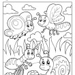 Stock Vector: Coloring book bugs theme image 3