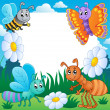 Frame with bugs theme 3 — Stock Vector #11550583