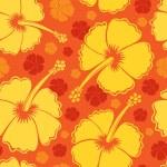 Hibiscus seamless background 2 — Stock Vector #11550668