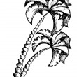 Palm tree theme drawing 1 — Stock Vector #11550787
