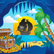 Stock Vector: Pirate cove theme image 1