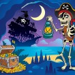 Stock Vector: Pirate cove theme image 2