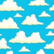 Seamless background with clouds 9 — Stock Vector