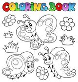 Coloring book with butterflies 2 — Stock Vector