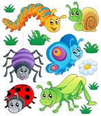 Cute bugs collection 1 — Stock Vector
