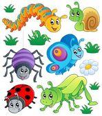 Cute bugs collection 1 — Stock Vector