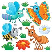 Cute bugs collection 2 — Stock Vector