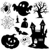 Halloween silhouettes collection 1 — Stock Vector