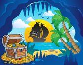 Pirate cove theme image 1 — Stok Vektör