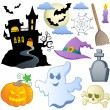 Stock Vector: Halloween theme collection 1