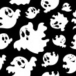 Seamless background with ghosts 1 — Stockvektor