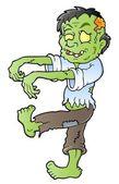 Cartoon zombie theme image 1 — Stock Vector
