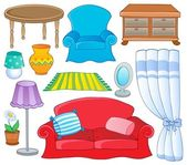 Thema möbelkollektion 1 — Stockvektor