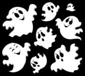 Ghost theme image 1 — Stock Vector